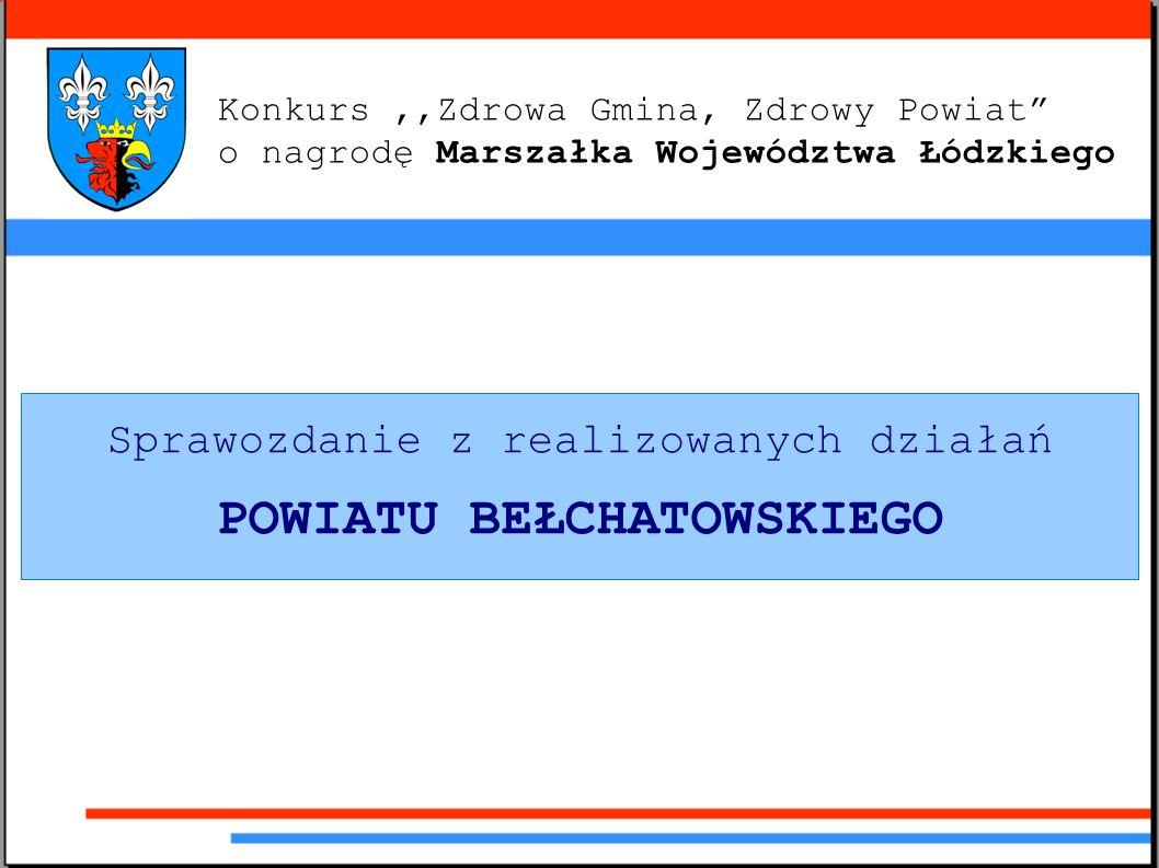 Konkurs,,Zdrowa Gmina, Zdrowy Powiat o nagrodę Marszałka Województwa Łódzkiego Sprawozdanie z realizowanych działań POWIATU BEŁCHATOWSKIEGO