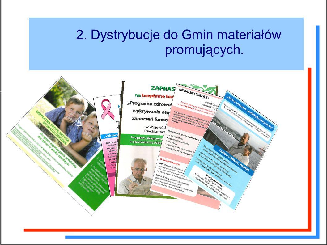 2. Dystrybucje do Gmin materiałów promujących.