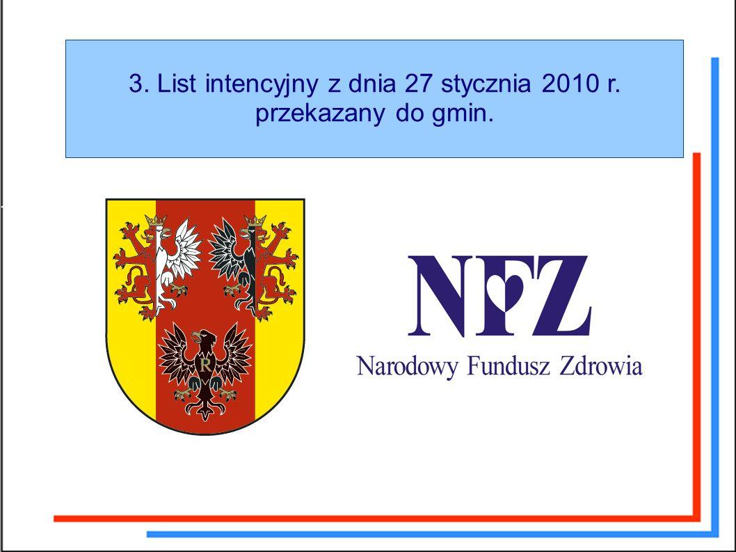 3. List intencyjny z dnia 27 stycznia 2010 r. przekazany do gmin.