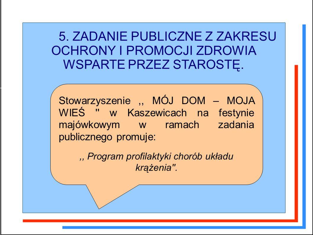 5. ZADANIE PUBLICZNE Z ZAKRESU OCHRONY I PROMOCJI ZDROWIA WSPARTE PRZEZ STAROSTĘ.