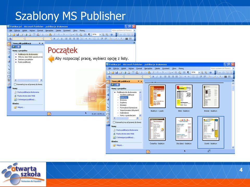 4 Szablony MS Publisher