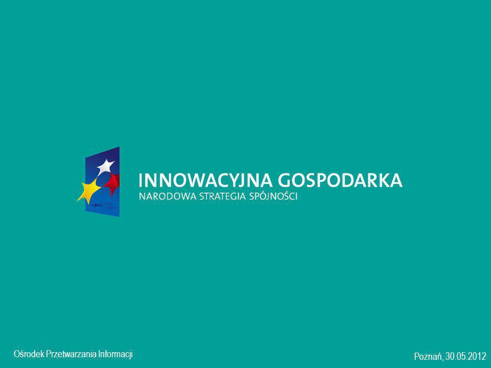 Ośrodek Przetwarzania Informacji jest Instytucją Wdrażającą dla Programu Operacyjnego Innowacyjna Gospodarka 2007-2013 Warszawa, 17.01.2008 Ośrodek Przetwarzania Informacji Poznań, 30.05.2012 2 Działania wdrażane przez OPI 1.3 1.3.1 Projekty Rozwojowe 1.3.2 Wsparcie ochrony własności przemysłowej tworzonej w jednostkach naukowych w wyniku prac B+R 1.1 1.1.1 Projekty badawcze z wykorzystaniem metody foresight