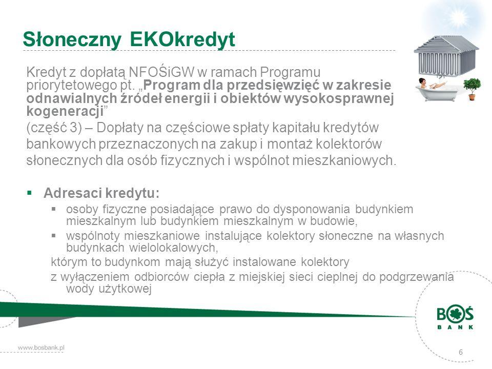 6 Kredyt z dopłatą NFOŚiGW w ramach Programu priorytetowego pt. Program dla przedsięwzięć w zakresie odnawialnych źródeł energii i obiektów wysokospra