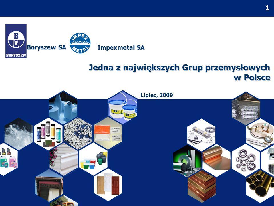 2 Grupa Boryszew wraz z Grupą Impexmetal zaliczają się do kluczowych inwestycji Romana Karkosika (zaprezentowano tylko grupy notowane na GPW) GRUPY BRS/IPX: inwestycja strategiczna Romana Karkosika
