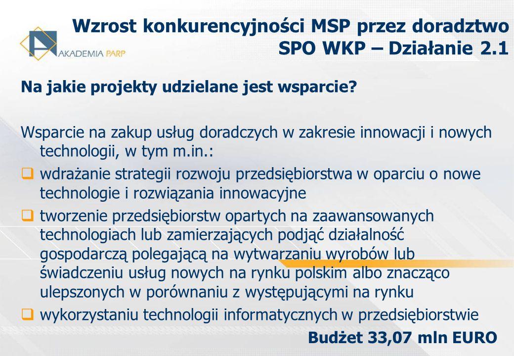 Polska Agencja Rozwoju Przedsiębiorczości ul.Pańska 81/83, 00-834 Warszawa tel.