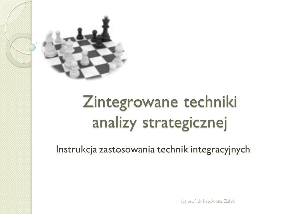 Zintegrowane techniki analizy strategicznej Instrukcja zastosowania technik integracyjnych (c) prof.