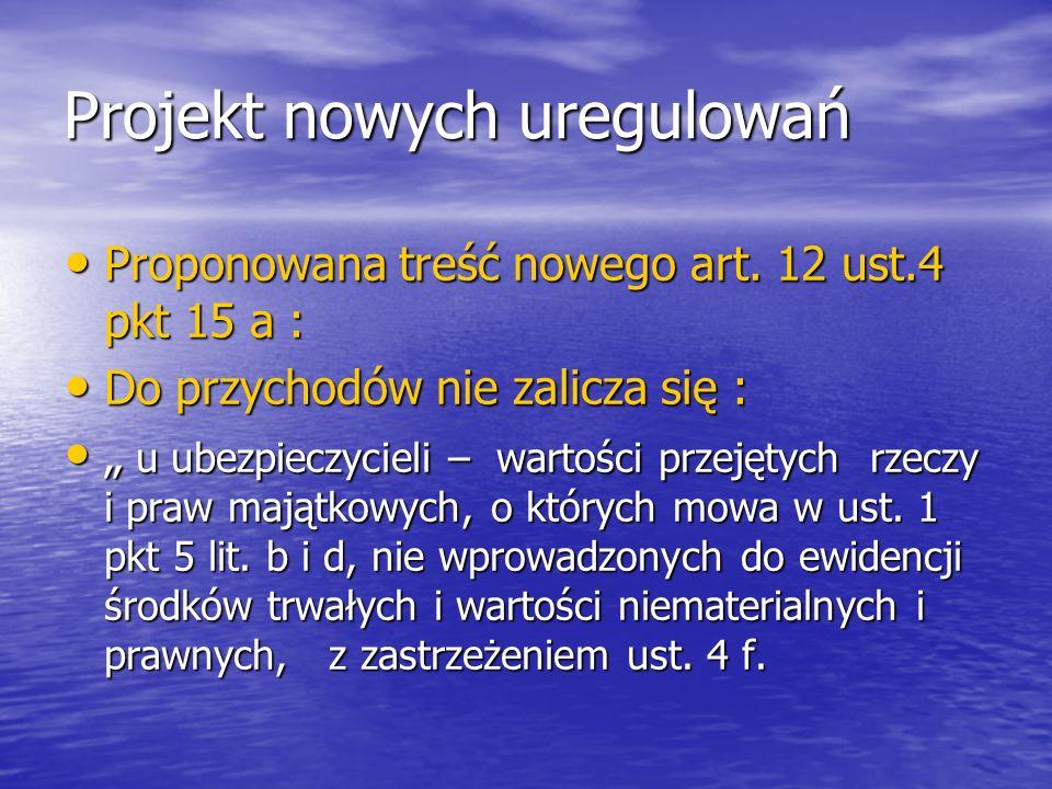 Projekt nowych uregulowań 4 f.