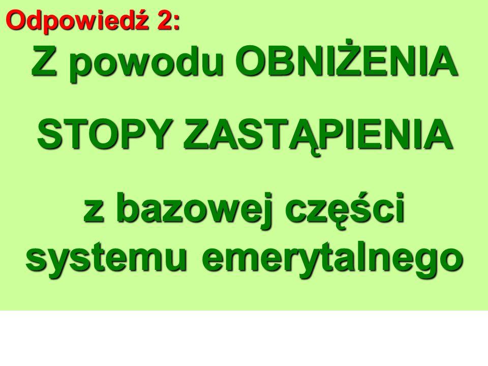 Odpowiedź 1: Odpowiedź 1: Aby STWORZYĆ SYSTEM EMERYTALNY Ustanowienie systemu o trzech filarach.