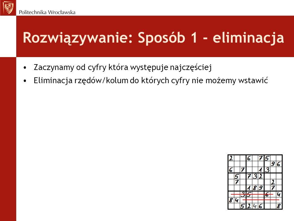 Gra Sudoku: Interfejs użytkownika