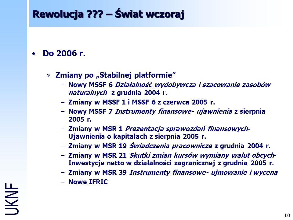 10 Rewolucja ??.– Świat wczoraj Do 2006 r.
