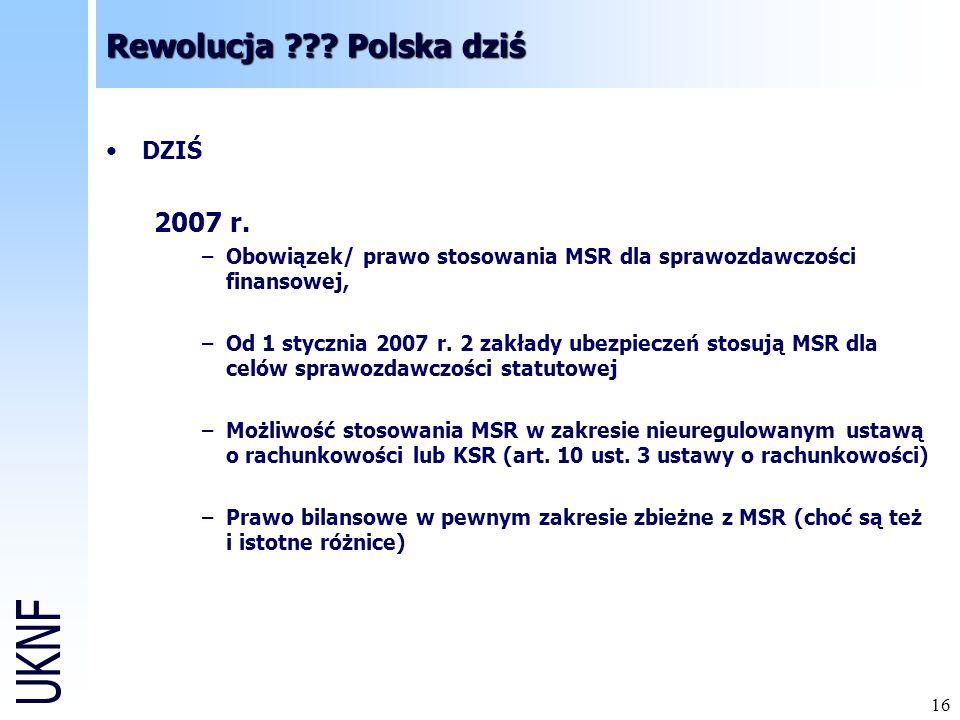 16 Rewolucja ??.Polska dziś DZIŚ 2007 r.