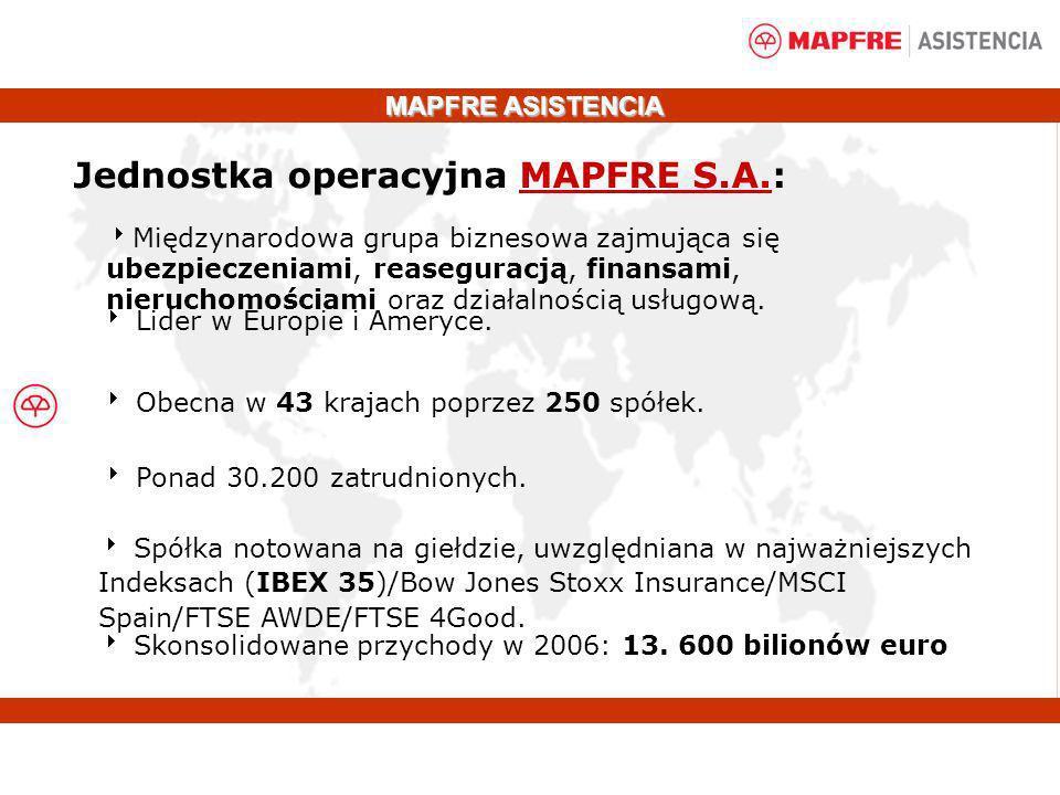 Jednostka operacyjna MAPFRE S.A.: Międzynarodowa grupa biznesowa zajmująca się ubezpieczeniami, reaseguracją, finansami, nieruchomościami oraz działal