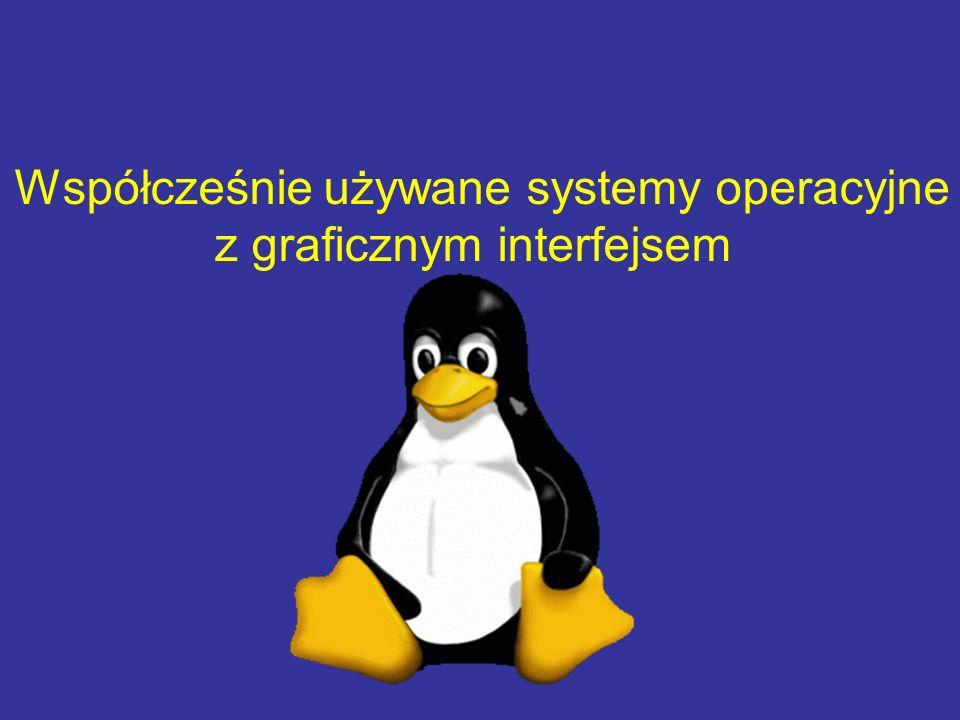 Współcześnie używane systemy operacyjne z graficznym interfejsem