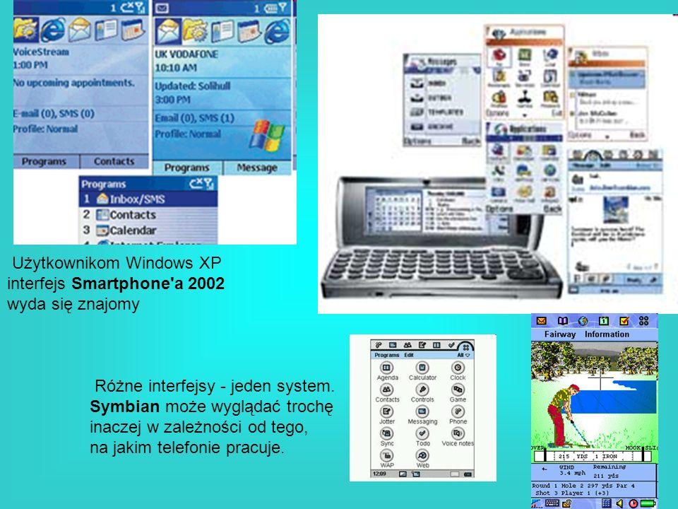 Użytkownikom Windows XP interfejs Smartphone'a 2002 wyda się znajomy Różne interfejsy - jeden system. Symbian może wyglądać trochę inaczej w zależnośc