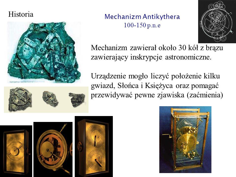Mechanizm zawierał około 30 kół z brązu zawierający inskrypcje astronomiczne. Urządzenie mogło liczyć położenie kilku gwiazd, Słońca i Księżyca oraz p