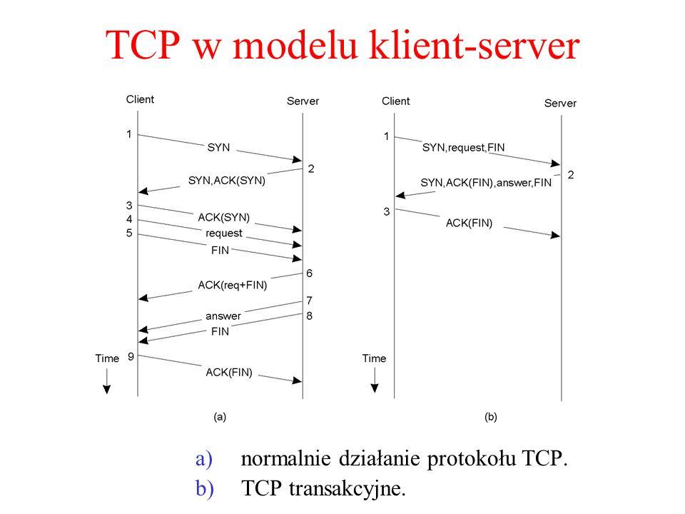 Sockety Berkeley (1) Operacje elementarne na gniazdach w TCP/IP.