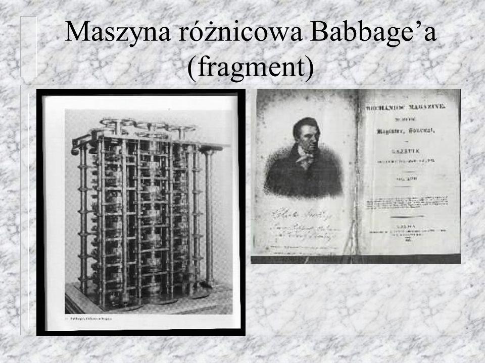 Maszyna różnicowa Babbagea (fragment)
