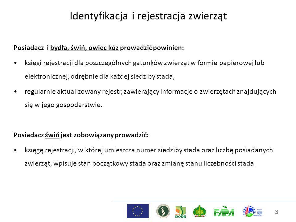3 Posiadacz i bydła, świń, owiec kóz prowadzić powinien: księgi rejestracji dla poszczególnych gatunków zwierząt w formie papierowej lub elektroniczne