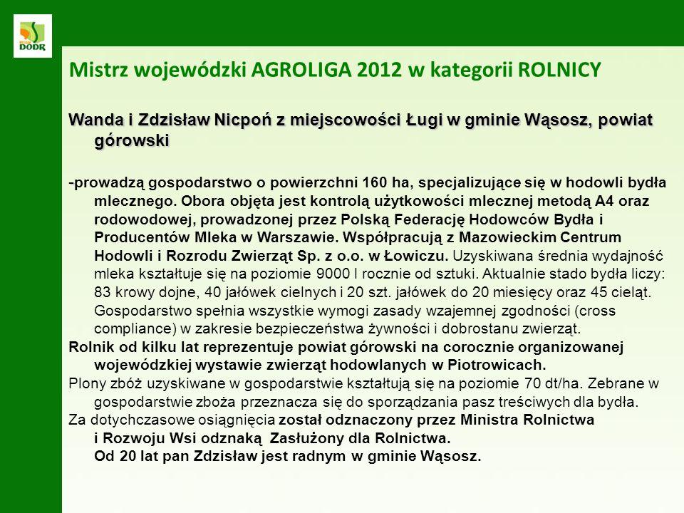 Wanda i Zdzisław Nicpoń z miejscowości Ługi w gminie Wąsosz, powiat górowski