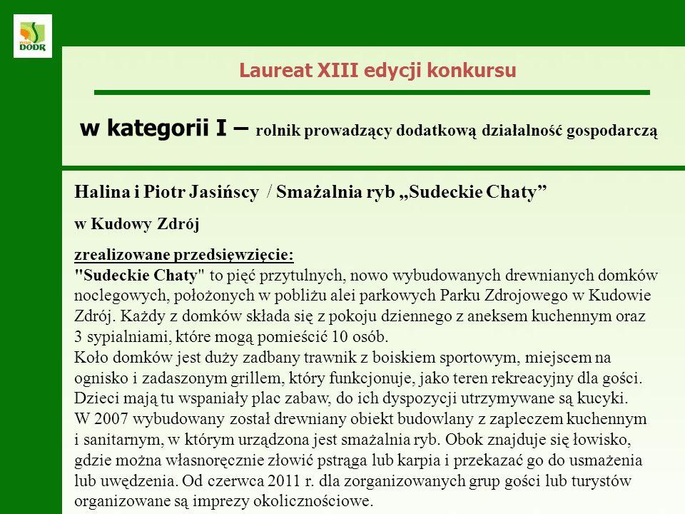 Halina i Piotr Jasińscy / Smażalnia ryb Sudeckie Chaty w Kudowy Zdrój zrealizowane przedsięwzięcie: