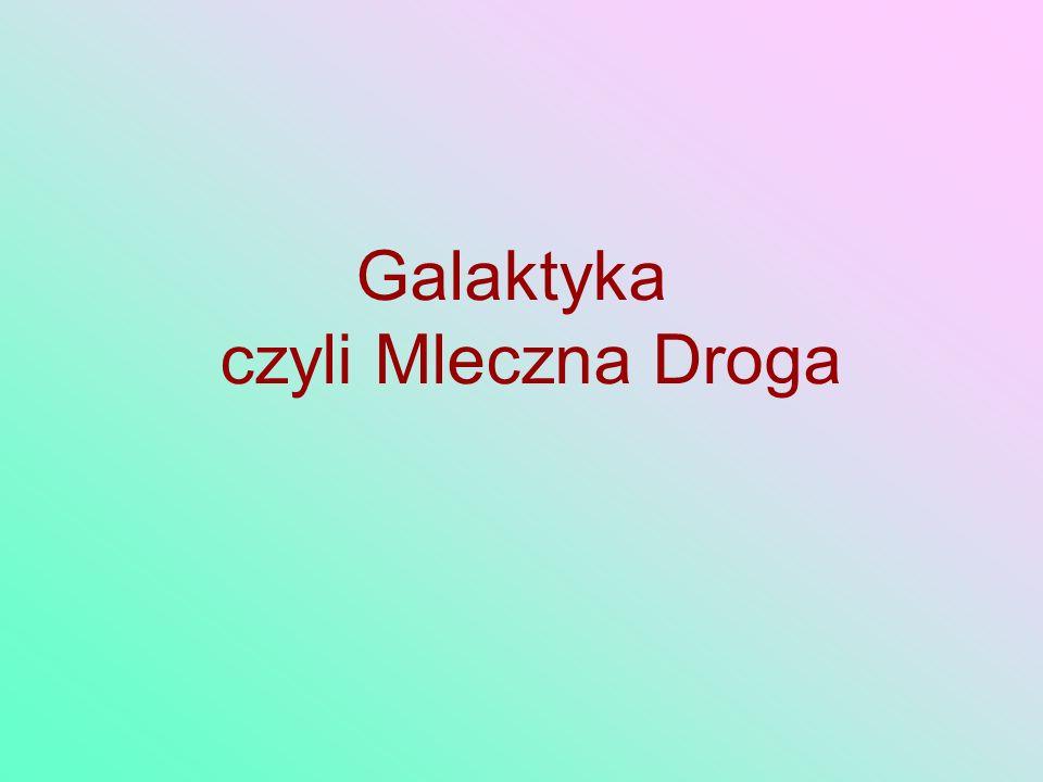 Galaktyka czyli Mleczna Droga