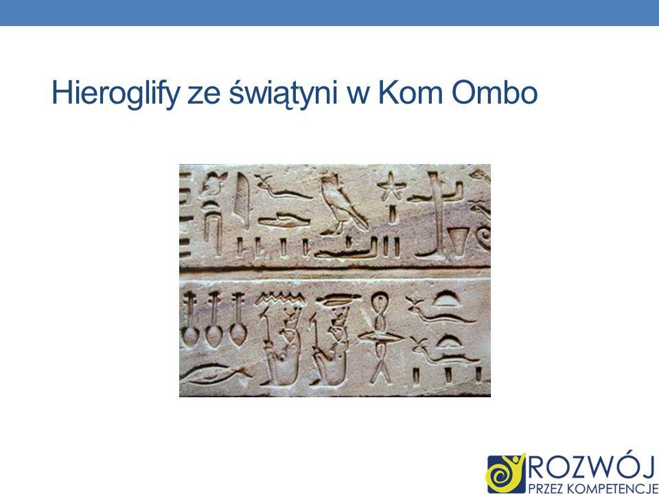 Hieroglify ze świątyni w Kom Ombo