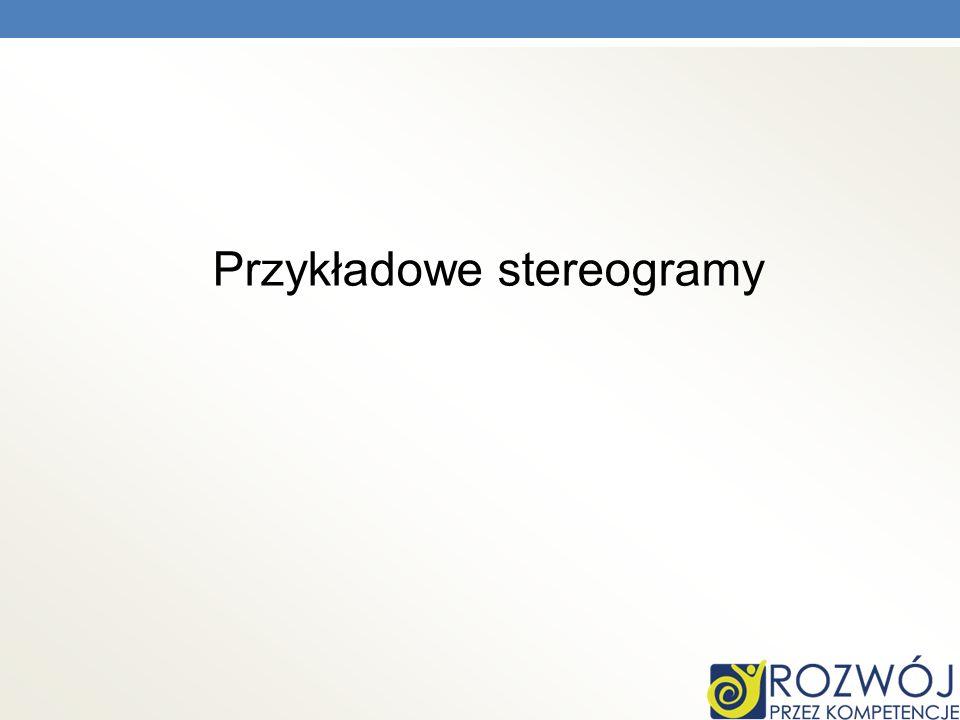 Przykładowe stereogramy
