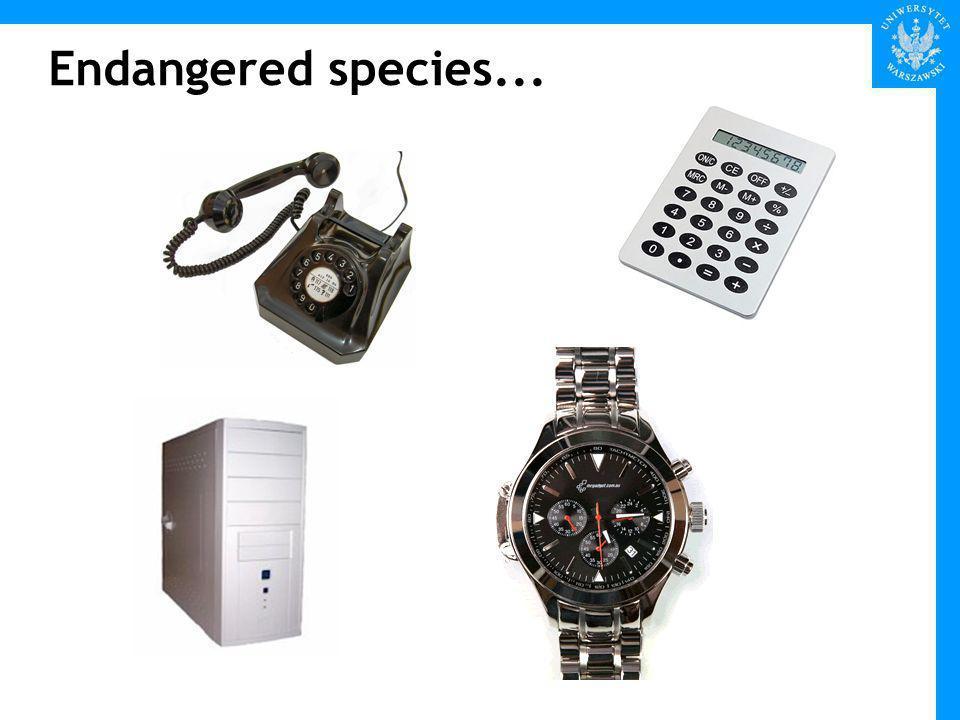 Endangered species...