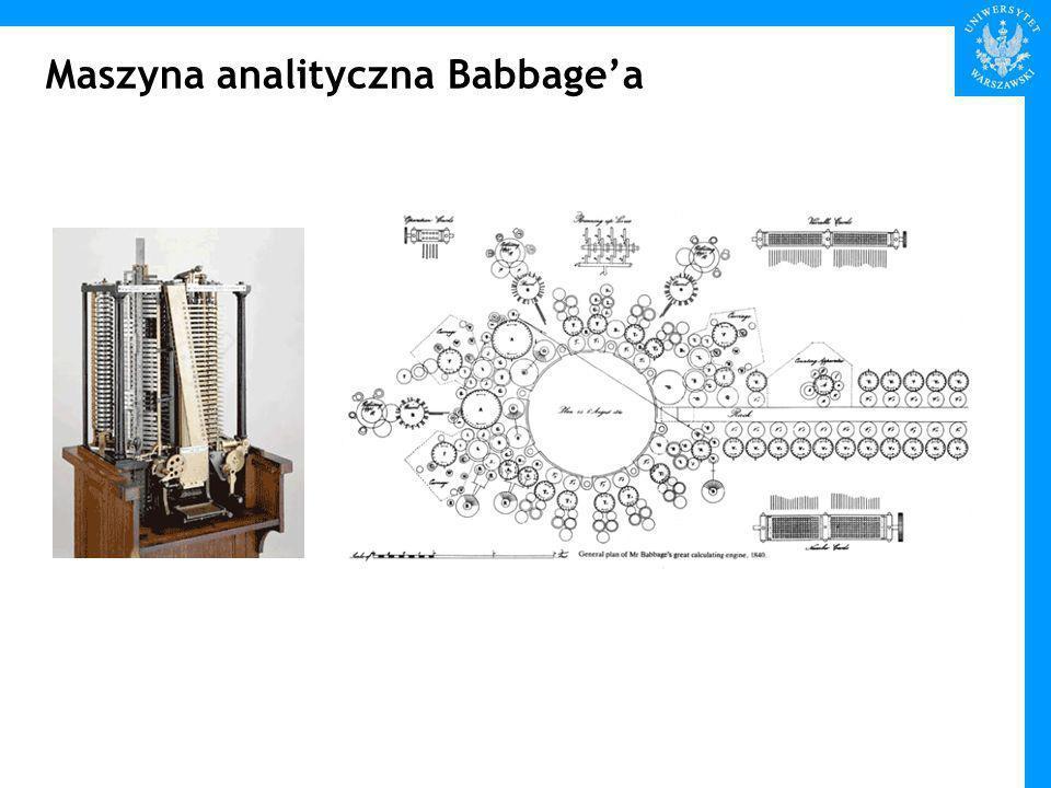 Maszyna analityczna Babbagea