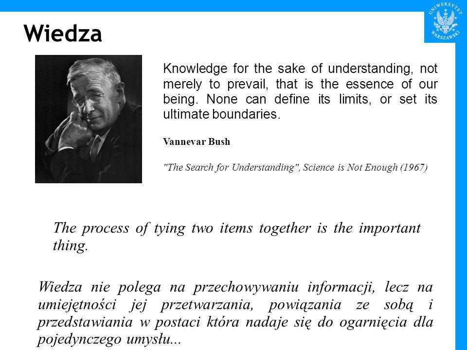 Wiedza Knowledge for the sake of understanding, not merely to prevail, that is the essence of our being.