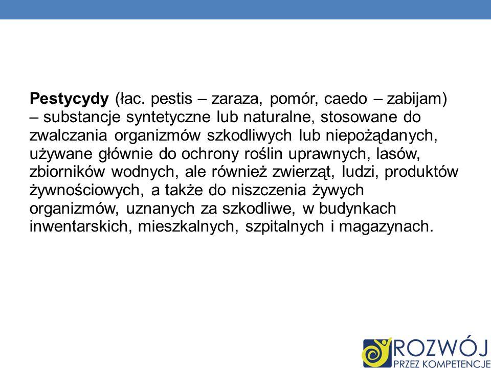 Pestycydy (łac.