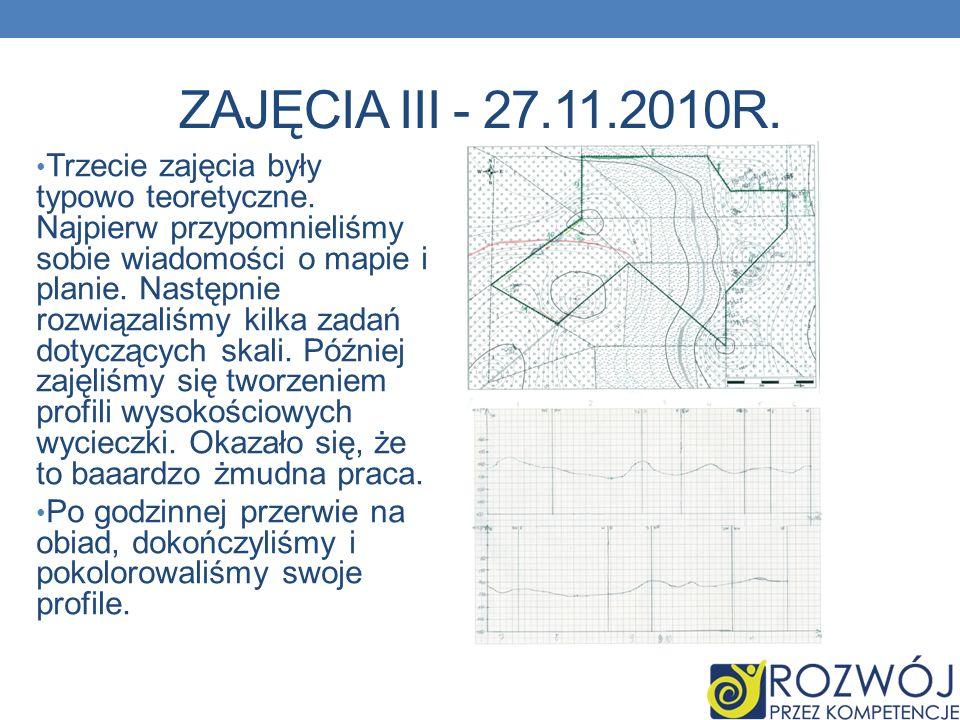 ZAJĘCIA III - 27.11.2010R.Trzecie zajęcia były typowo teoretyczne.