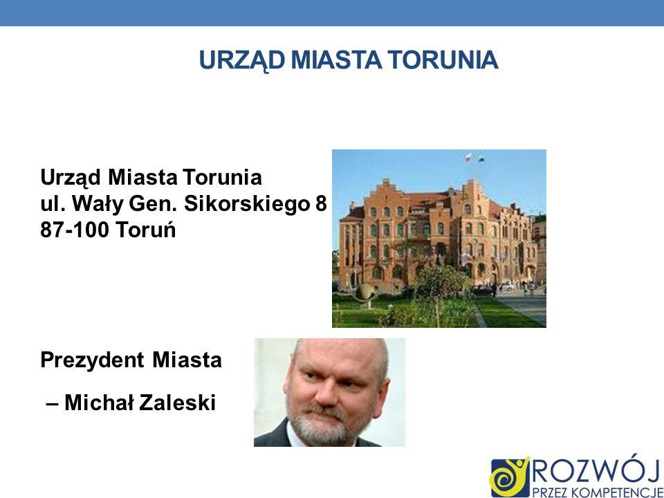 URZĄD MIASTA TORUNIA Urząd Miasta Torunia ul. Wały Gen.