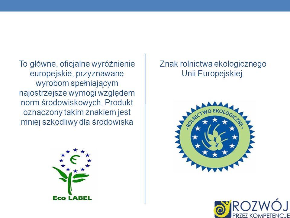 To główne, oficjalne wyróżnienie europejskie, przyznawane wyrobom spełniającym najostrzejsze wymogi względem norm środowiskowych. Produkt oznaczony ta