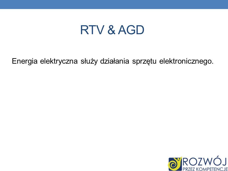 RTV & AGD Energia elektryczna służy działania sprzętu elektronicznego.