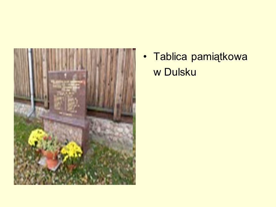 Tablica pamiątkowa w Dulsku
