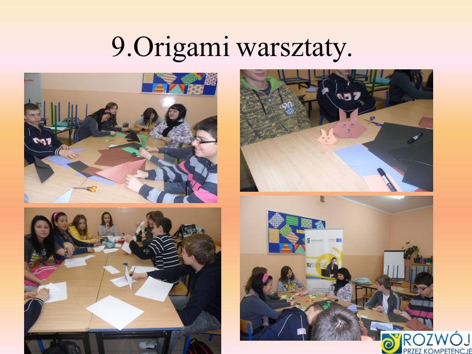 9.Origami warsztaty.