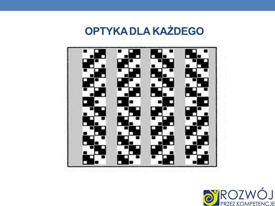 Z Ł UDZENIE Ś CIANY KAWIARNI Jest to z ł udzenie optyczne przedstawiaj ą ce czarne i bia ł e kwadraty ustawione w rz ę dach.