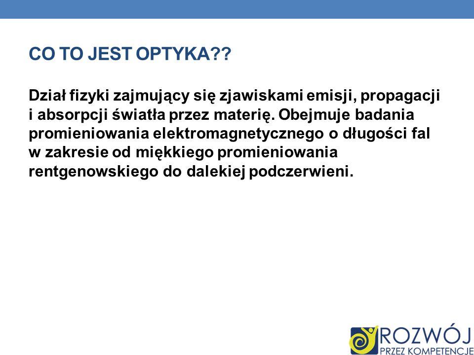 CO TO JEST OPTYKA?.