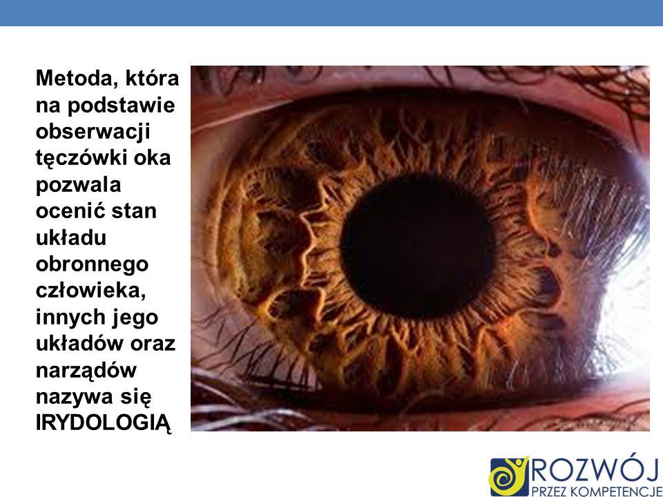 Metoda, która na podstawie obserwacji tęczówki oka pozwala ocenić stan układu obronnego człowieka, innych jego układów oraz narządów nazywa się IRYDOL