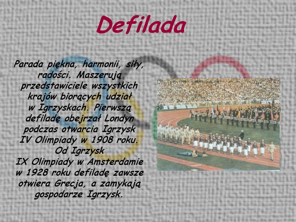 Parada piękna, harmonii, siły, radości. Maszerują przedstawiciele wszystkich krajów biorących udział w Igrzyskach. Pierwszą defiladę obejrzał Londyn p