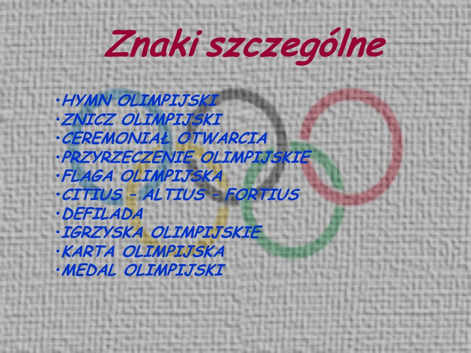 Medal olimpijski Medal olimpijski wręczany jest za trzy pierwsze miejsca.