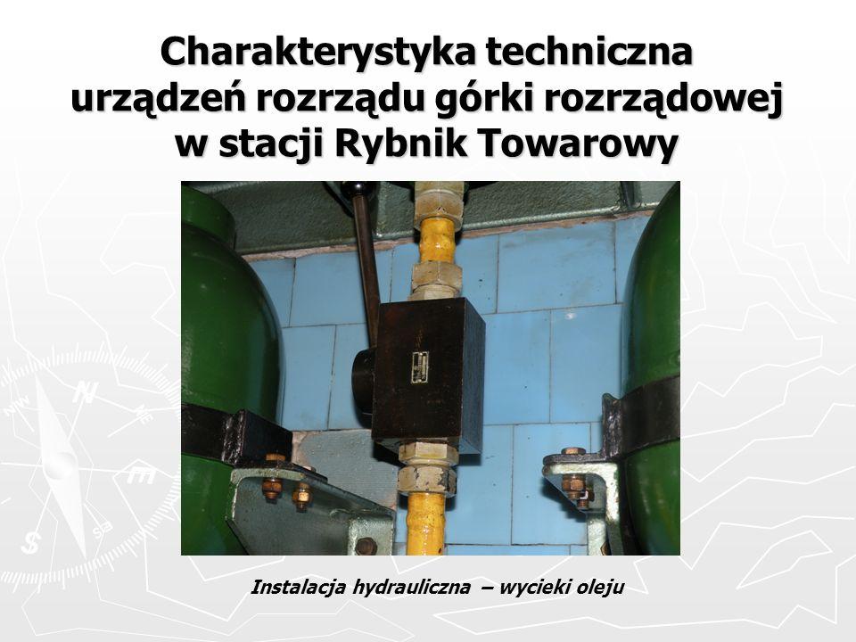 Charakterystyka techniczna urządzeń rozrządu górki rozrządowej w stacji Rybnik Towarowy Instalacja hydrauliczna – wycieki oleju