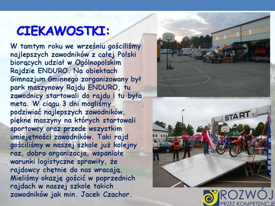 CIEKAWOSTKI: W tamtym roku we wrześniu gościliśmy najlepszych zawodników z całej Polski biorących udział w Ogólnopolskim Rajdzie ENDURO.
