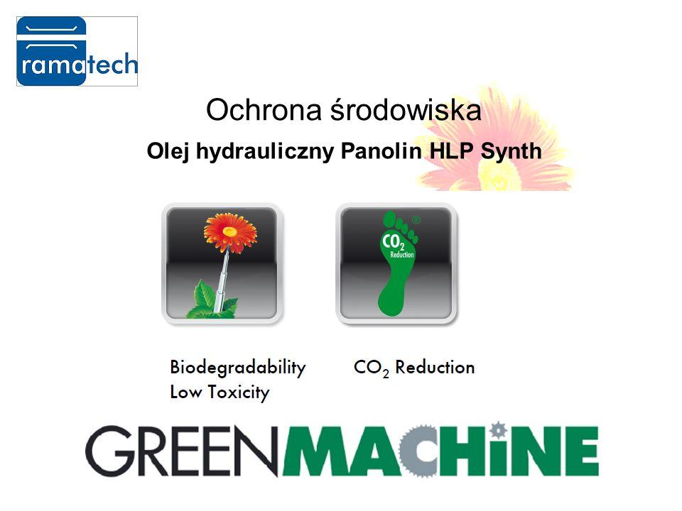 Ochrona środowiska Olej hydrauliczny Panolin HLP Synth Niezawodność i stabilność w szerokim zakresie temperatur otoczenia (temp.