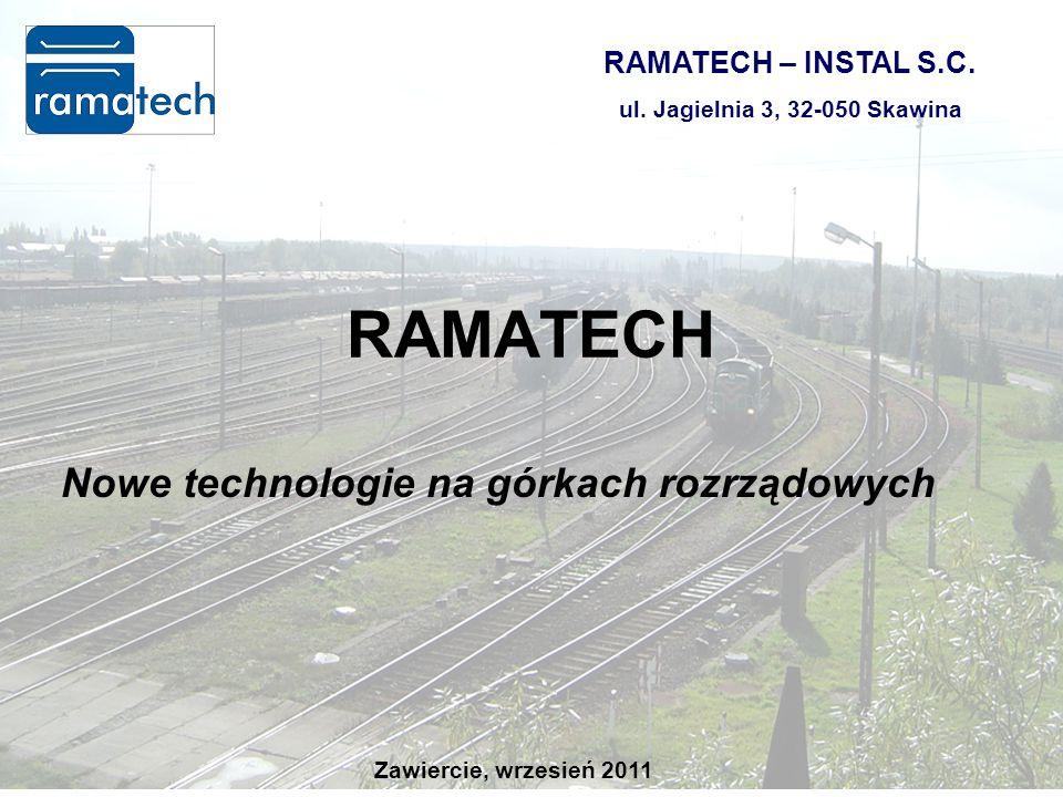 Kielce, czerwiec 201115 Nowe technologie na górkach rozrządowych RAMATECH RAMATECH – INSTAL S.C.