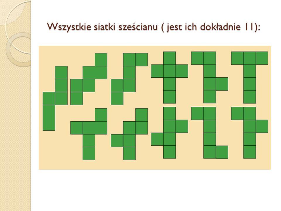 Wszystkie siatki sześcianu ( jest ich dokładnie 11):