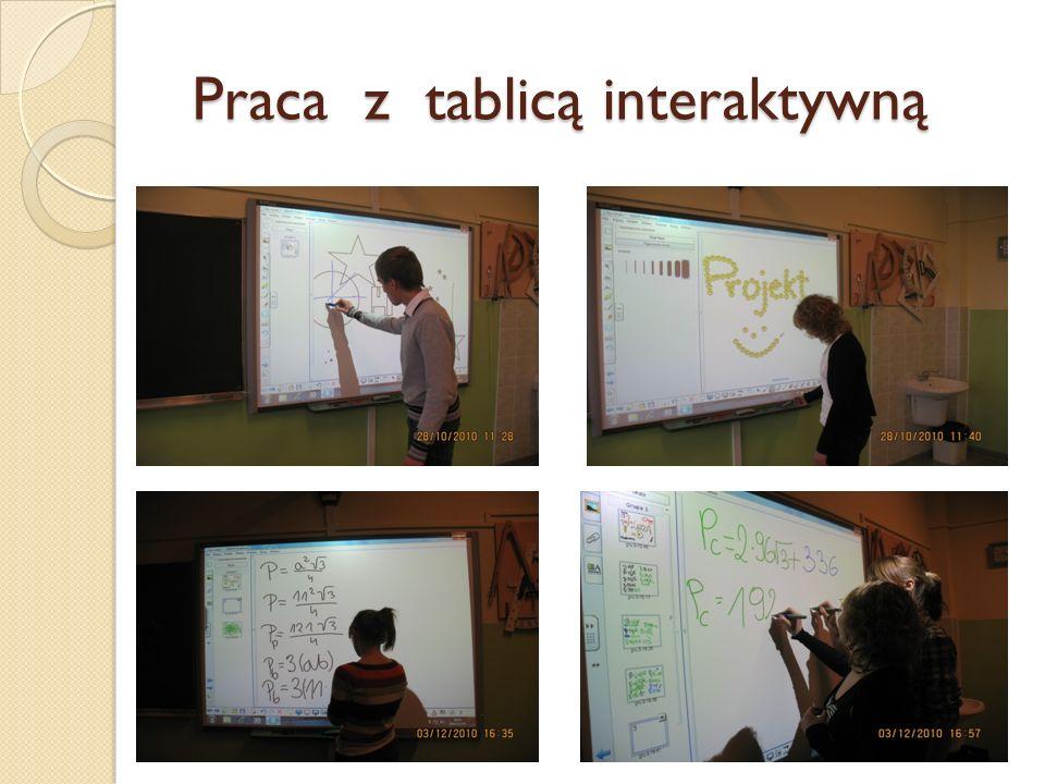 Praca z tablicą interaktywną Praca z tablicą interaktywną