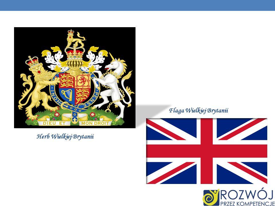 Herb Wielkiej Brytanii Flaga Wielkiej Brytanii