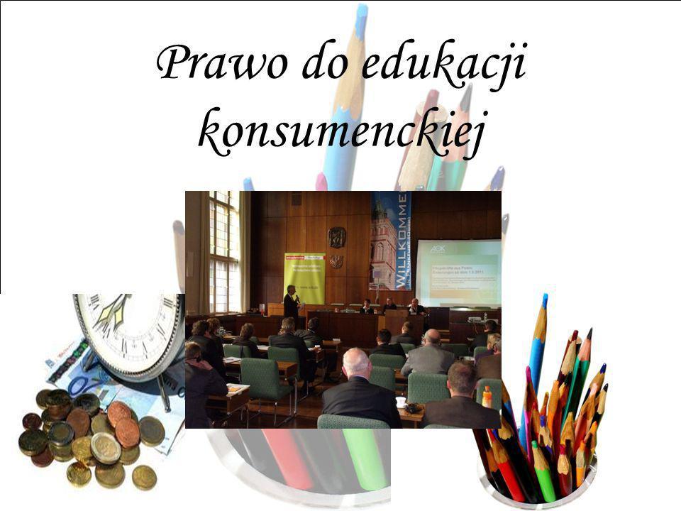 Prawo do edukacji konsumenckiej